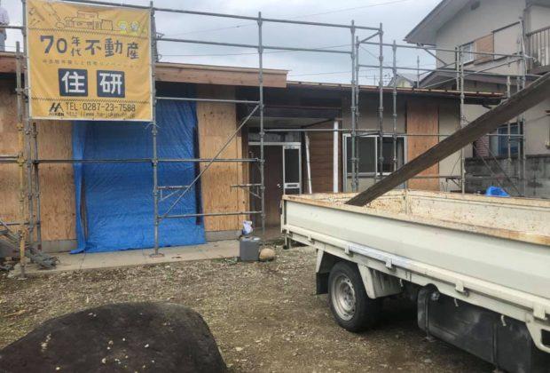 那須塩原市太夫塚リノベーションO様邸 工事進行中です。