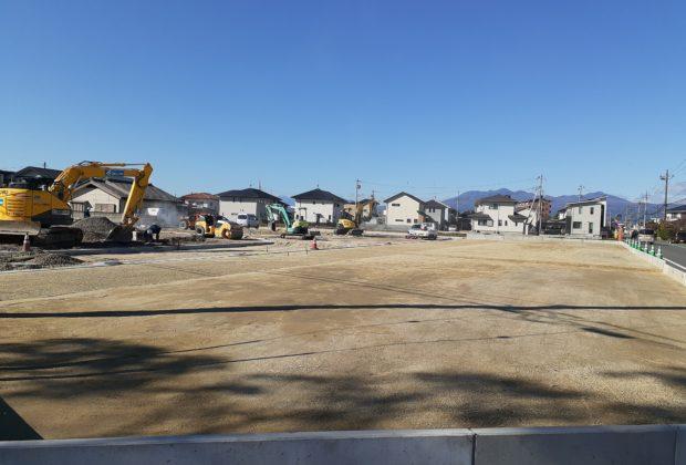 住研本町分譲地を造成中です。